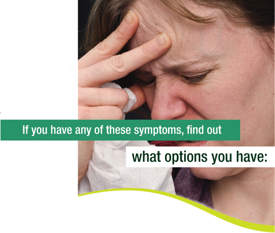 the symptoms and treatment of sinus infections The latest news and information on sinus infection learn about what causes sinus infection, the symptoms, treatment, drugs, triggers, and tests for sinus infection.